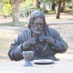 Jesus breaking bread at Last Supper